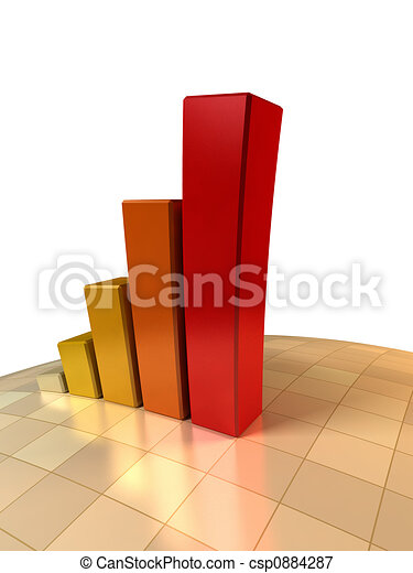 3d growth chart - csp0884287
