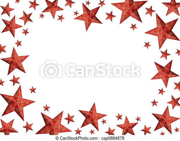 Bordes Decorativos De Navidad Estrellas