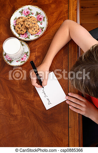Child writing a letter - csp0885366