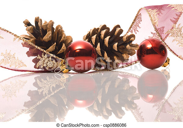 christmas decorations with reflex - csp0886086