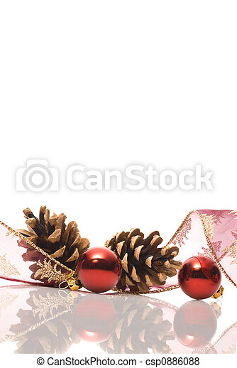 christmas decorations with reflex - csp0886088