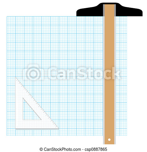 Graph Paper Drafting Tools Draw - csp0887865