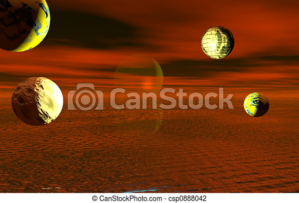 PLANETS IN THE DUSK - csp0888042