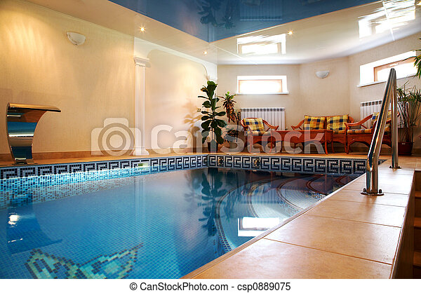 Pool with pure water - csp0889075
