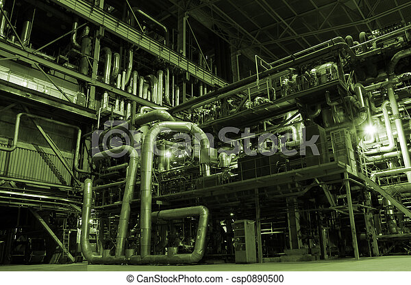 Boilers, ladders and pipes on power plant - csp0890500