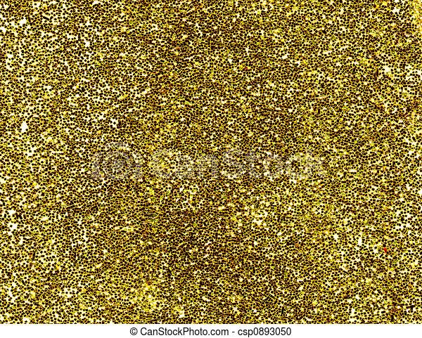 A macro close up of a gold glitter background. - csp0893050