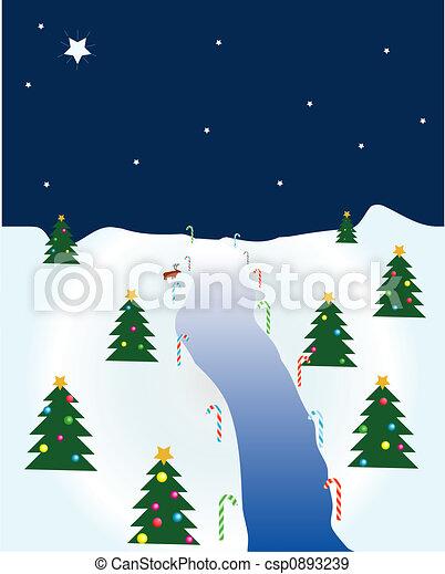 Christmas scene - csp0893239