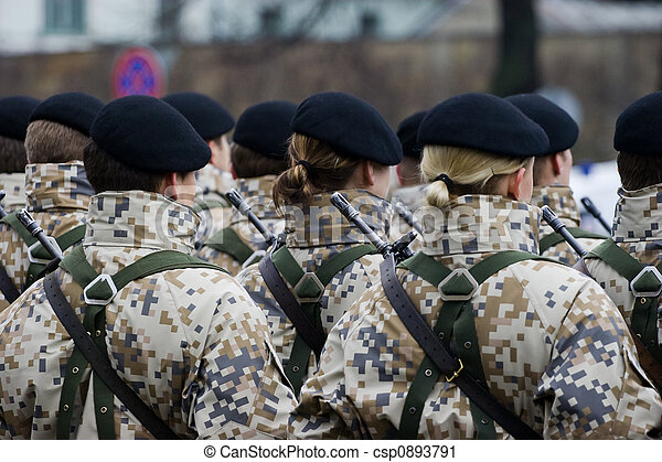 Soldiers at the Military parade - csp0893791