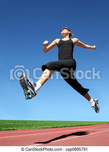 Running woman - csp0895791