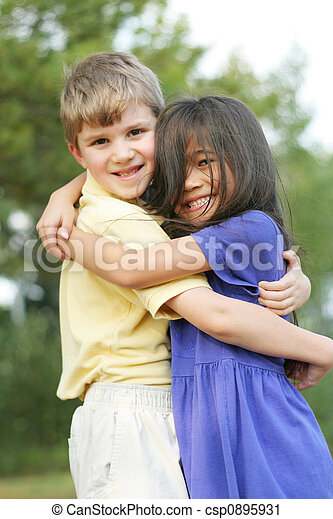 Stock Photography of Best friends - Two friends, boy and ...  Stock Photograp...