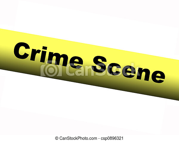 Yellow Crime Scene Barrier Tape - csp0896321