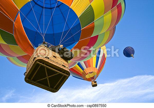 hot air balloons - csp0897550