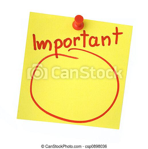 Important note  - csp0898036