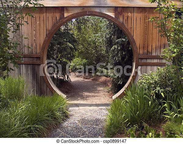 Japanese Garden Gate - csp0899147