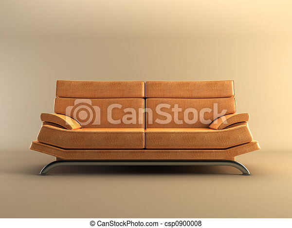 modern leather couch - csp0900008