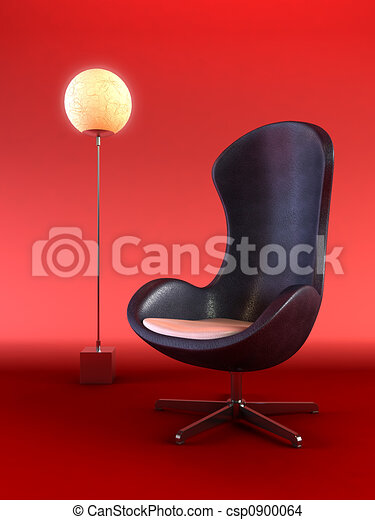 modern armchair 3d rendering - csp0900064