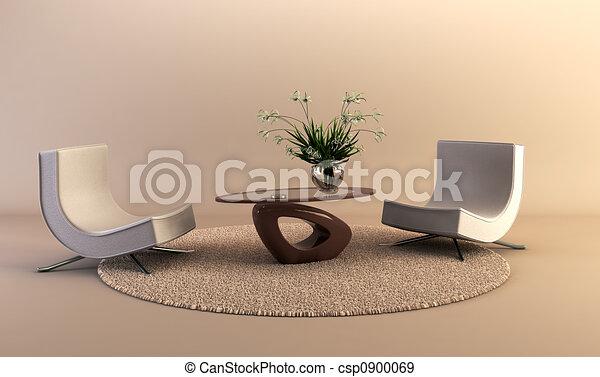 modern style lounge room - csp0900069