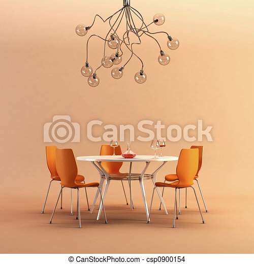 design of the dining room - csp0900154