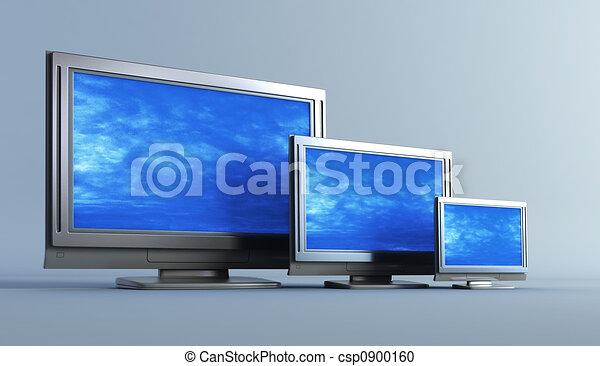 several of plasma television set - csp0900160
