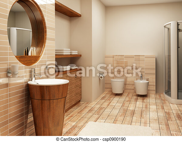 bathroom interior - csp0900190