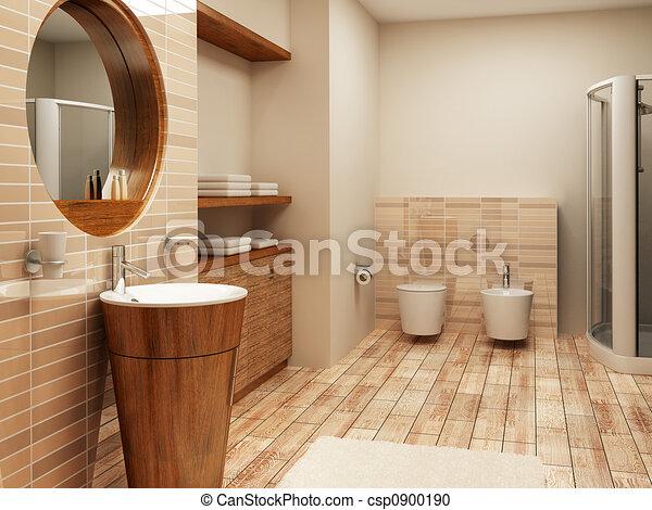 bathroom interior - csp0900190