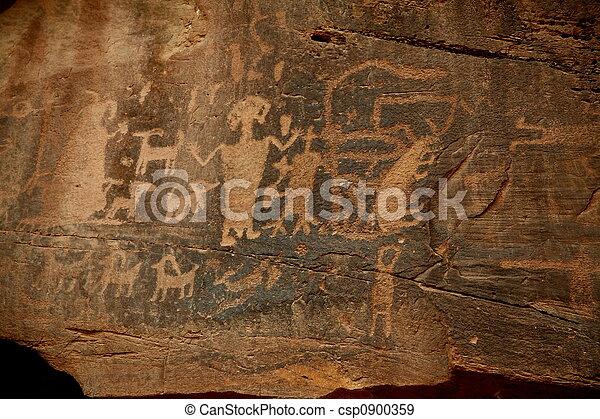 Petroglyphs in southern u - csp0900359