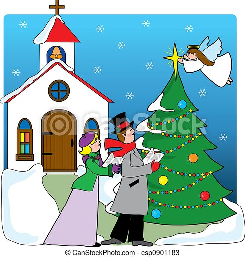 Church Carolers - csp0901183