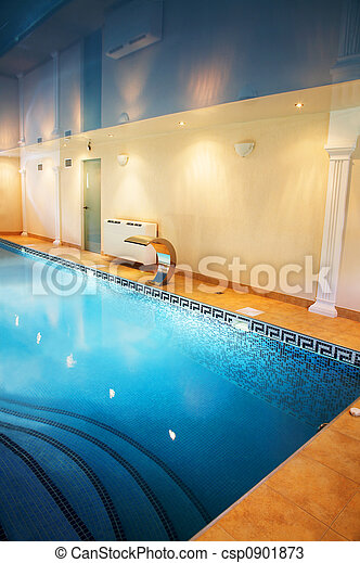 pool with a mirror ceiling - csp0901873
