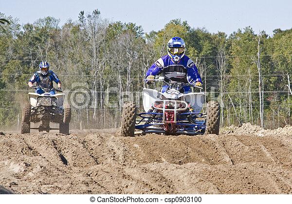 quatre, roue, Motocross - csp0903100