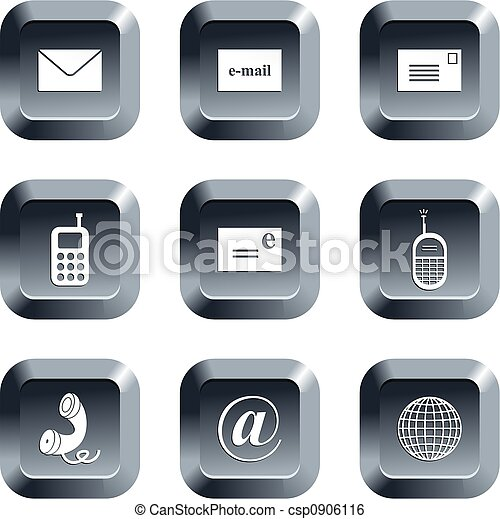 communication, boutons - csp0906116