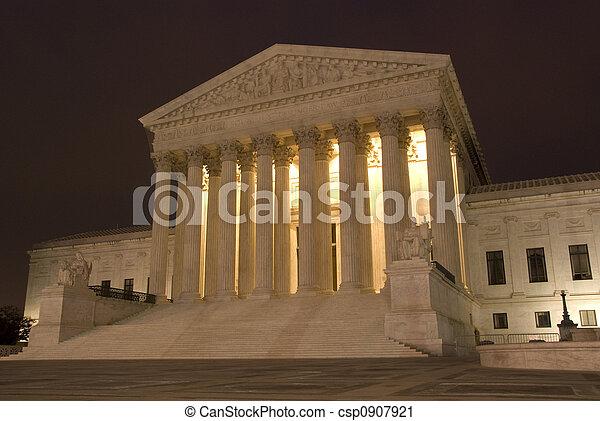 US Supreme Court at Night - csp0907921