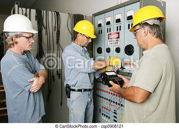 Electrical Team at Work - csp0908121