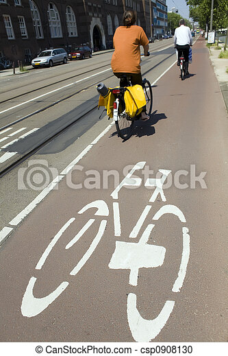 biking in Amsterdam - csp0908130