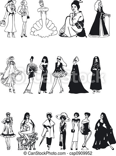 Fashion Silouettes - csp0909952