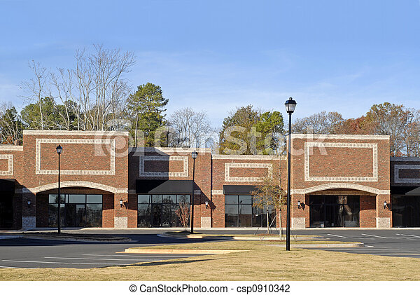 Stock Photo of New Commercial-Retail-Office Building - Facade of a New...