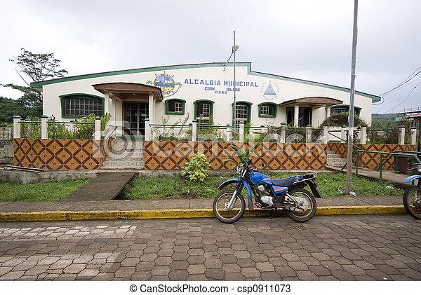 government building corn island nicaragua - csp0911073