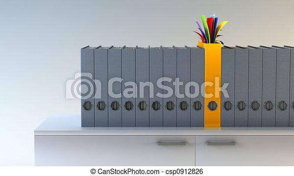 exclusive folder among row of folders - csp0912826