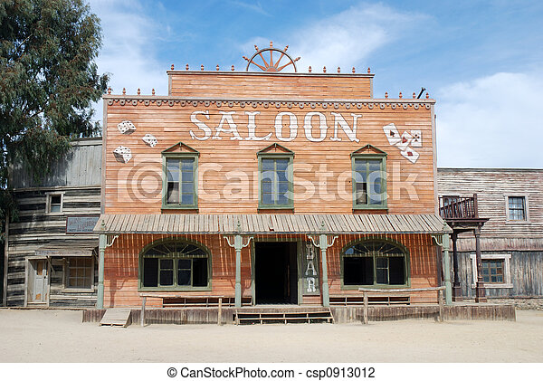 Stock Photo of Old Saloon - Saloon in an old American western town ...