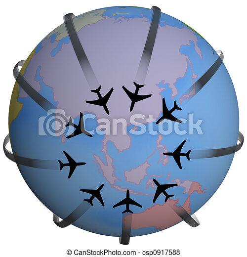Airline Travel Destination Asia - csp0917588