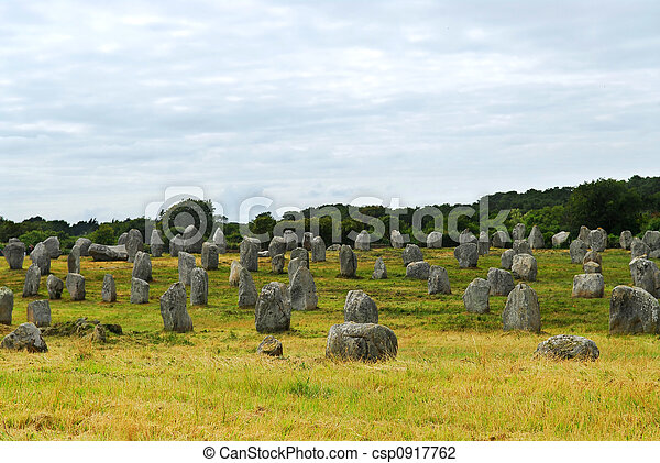 stock photo of megalithic monuments in brittany prehistoric megalithic csp0917762 search. Black Bedroom Furniture Sets. Home Design Ideas