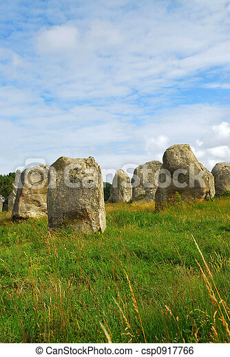 Megalithic monuments in Brittany - csp0917766
