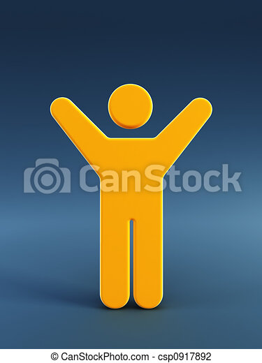 symbol of the running man - csp0917892