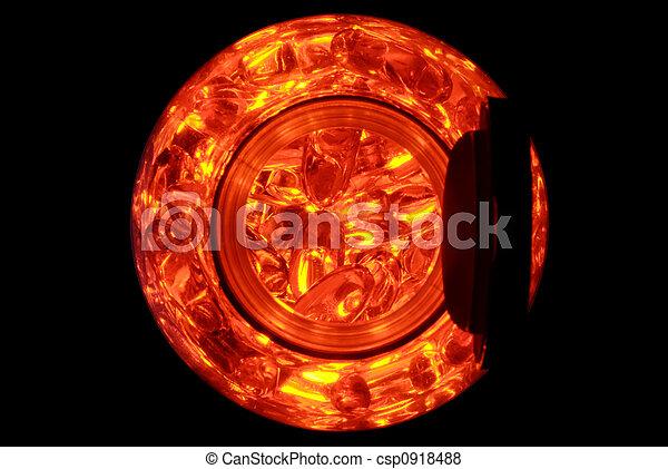 Red Capsules in a Jar - csp0918488