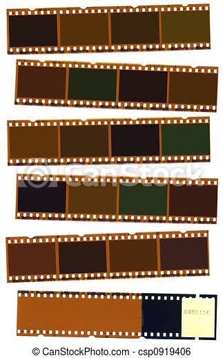 Photographic negative film strip - csp0919406