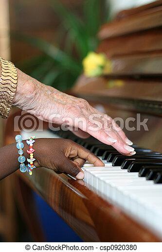 Ebony and Ivory Harmony - csp0920380