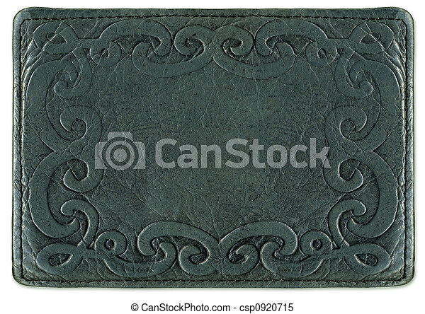 Leather texture with pattern frame - csp0920715
