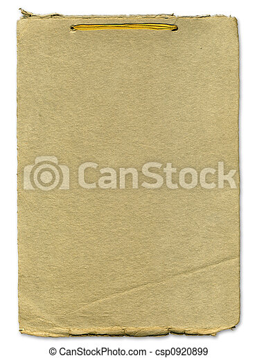 Rough paper texture with ribbon binding - csp0920899