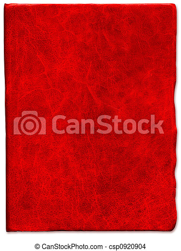 Vintage Red scratched leather texture  - csp0920904