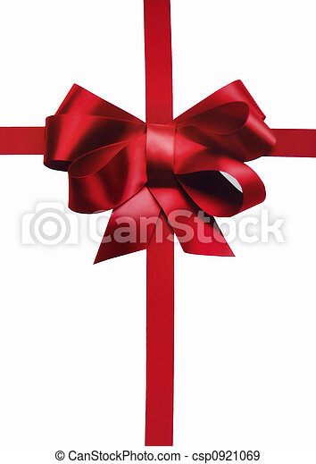 Stock Photographs of red holiday bow and ribbon for xmas