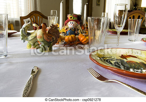 Getting Ready for the Thanksgiving Family Dinner - csp0921278